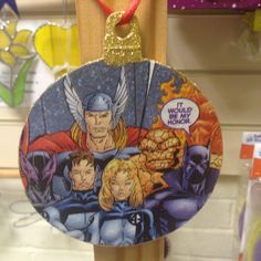 Comic super hero Thor and fantastic four inspired xmas decoration https://www.facebook.com/thehandmadegeekskent/photos_stream?ref=page_internal