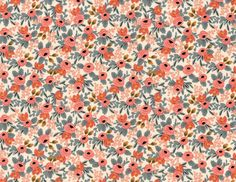 Cotton and Steel Rifle Paper Co. Les Fleurs Rosa Navy with Blue and Pink Florals