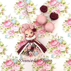 """Let them eat cakes""  * * * #marieantoinette #polymerclay #doll # danielapupa #handmade #jewels #fimodoll #dollartistry #dollstagram"