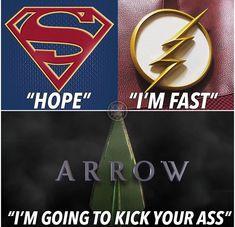 I know not marvel, but it's the summary of arrow Arrow Funny, Arrow Memes, Heroes Dc Comics, Marvel Dc Comics, Hulk Marvel, Ms Marvel, Marvel Art, Captain Marvel, Superhero Shows