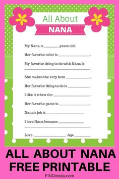 Nana gift ideas: over 25 fantastic gifts that will make you Nana& favorite! Great Grandma Gifts, Unique Mothers Day Gifts, Nana Gifts, Mothers Day Crafts For Kids, Mothers Day Cards, Easy Diy Mother's Day Gifts, Easy Mother's Day Crafts, Mother's Day Diy, Kid Crafts
