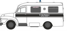 NBED004 Bedford J1 Lomas St John Ambulance Bedford Lomas Ambulance £4.75