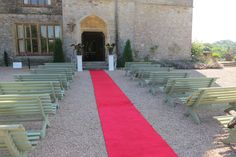 Outdoor ceremony on the west terrace - Huntsham Court