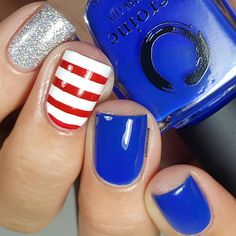 "375 Likes, 6 Comments - Jessica Byles (@lalalovenailart) on Instagram: ""Happy President's Day ❤ You know I can't resist patriotic nails . . . @heroine.nyc Royal Blood +…"""