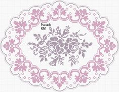 Gallery.ru / Фото #46 - φιλε - ergoxeiro Embroidery Patterns, Hand Embroidery, Cross Stitch Patterns, Crochet Patterns, Crochet Lace Edging, Crochet Doilies, Fillet Crochet, Yarn Thread, Cross Stitch Rose