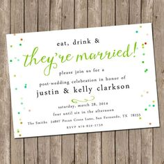 Our Favorite Day-After Wedding Brunch Invitations | TheKnot.com. Don't like the invite but do like the wording