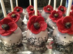 made these poppy lollicakes/cake pops for a birthday