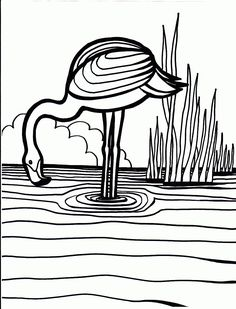 Flamingo Bird Coloring Pages 1000x1312