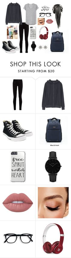 """""""Sem título #195"""" by jade-vieira ❤ liked on Polyvore featuring Gucci, Converse, CLUSE, Lime Crime, Avon, Beats by Dr. Dre and Bee Goddess"""