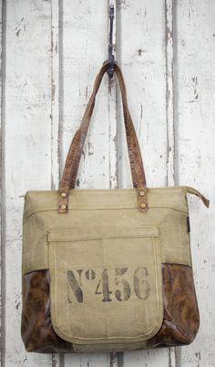 Tolle Sunsa Damen Vintage Tasche Canvas Canvastasche Schultertasche Handtasche Shopper Umhängetasche Leder Ledertasche Retro Segeltuch