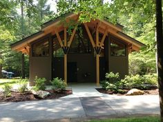 Bath house located at South Mountain State Park #nature #camping #bathhouse #commercial #wood #columns