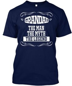 Father's Day Gift Grand Dad T Shirt Navy T-Shirt Front