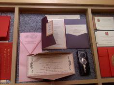Pocket and Gate-fold invitation.