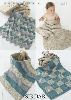 Blankets in Sirdar Snuggly Tiny Tots DK - 1334