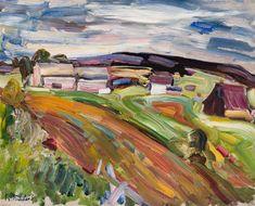 Rene Richard - Chemin de terre 16 x 20 Oil on board Canadian Painters, Painting, Art, Earth, Painting Art, Paintings, Kunst, Paint, Draw