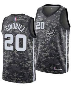 Nike Men s Manu Ginobili San Antonio Spurs City Swingman Jersey 2018 - Black  L 245debfc9