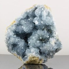 Celestite - Madagascar https://www.youtube.com/user/UAreHealing Calm the emotions, attract healing guides and connect to Archangel Michael. #onlinecrystalhealingcourses #crystalhealing #ArchangelMichael