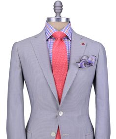Isaia | Grey Seersucker Suit - I imagine this is extremely comfortable to wear.