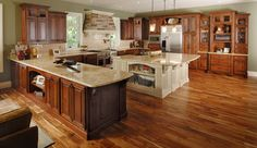 Alder Glazed Kitchen - traditional - kitchen cabinets - Other Metro - JC Huffman Cabinetry