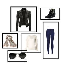 Jesień by magdalena-fajfer on Polyvore featuring moda, Chloé, Top Moda, Ray-Ban and Aigle