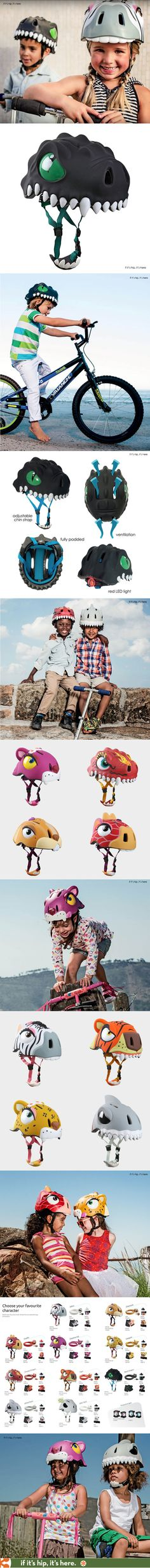 Kids' safety does not get cuter than these awesome bike helmets for boys and girls in the shapes of animals and dragons.