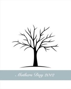 Great Mother's Day printables....love the fingerprint tree
