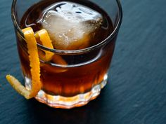 An old fashioned made with three different rums #cocktail rum cocktail, cocktail recipes