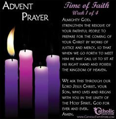 On Sunday we light the first Advent candle. A time of waiting and contemplation.