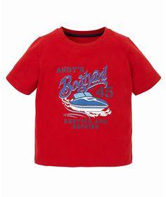 Mothercare Camiseta Roja Barco - Promocion camisetas 2 x 1 - Mothercare