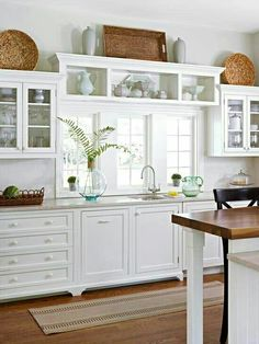 Love the shelves over the sink window!