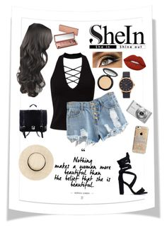 """""""SheIn"""" by janaalonzo ❤ liked on Polyvore featuring Miss Selfridge, Urban Decay, LORAC, Lime Crime, Marc Jacobs, Agent 18 and Sony"""