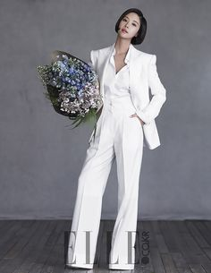 February Bride Hwang Jung Eum Covers the March Edition of Elle Bride   Couch Kimchi