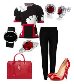 """""""Work Outfit 28 - Lucy"""" by office-girl ❤ liked on Polyvore featuring Alexander McQueen, STELLA McCARTNEY, Yves Saint Laurent, Christian Louboutin, Georg Jensen, Bling Jewelry and BERRICLE"""