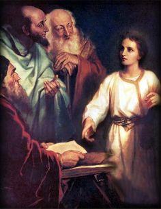 Jesus teaching in the synagog