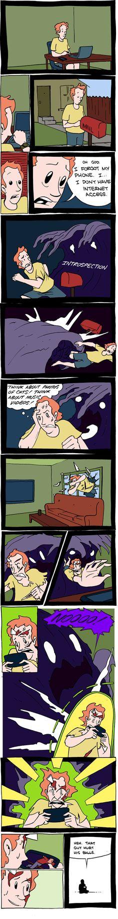 """Beware the Silent Predator. """"Saturday Morning Breakfast Cereal, by Zach Weiner. #2225"""""""