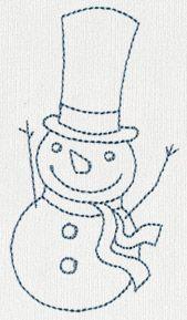 Jolly Snowman 5 design (UT11342) from UrbanThreads.com