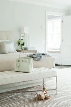 beautiful. peaceful. restful. with glam shoes and handbag. LOVE.