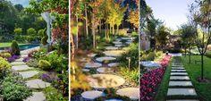 Construye un camino de piedra en el jardín - http://www.decoora.com/construye-un-camino-de-piedra-en-el-jardin.html