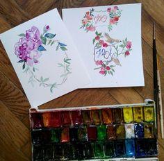 Flower illustration Watercolor illustration art Artist: Maryna Kovalchuk  instagram.com/dyvokolir