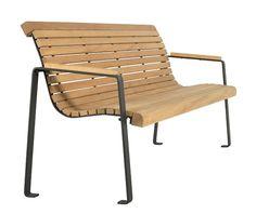 Banc senior COMFORT design, en bois et metal, Guyon, mobilier urbain / COMFORT senior bench, with steel and wood, Guyon, urban furniture