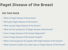 New pagets disease of the breast