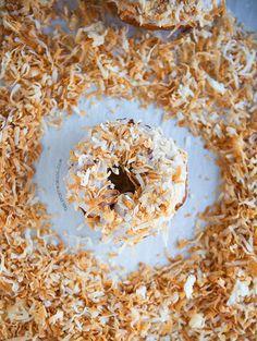 Triple coconut doughnut
