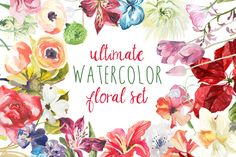 This is a listing for every single one of my floral watercolor clip art sets. I have a fun game that I like to play with people- I ask them to name as many flowers as they can off the top of