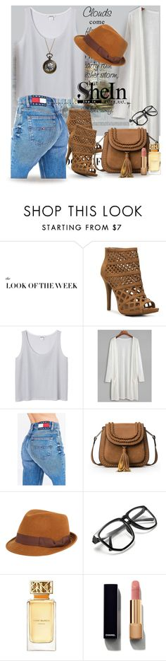 """""""White Long Kimono With Pockets - with SHEIN"""" by manuela-cdl ❤ liked on Polyvore featuring Zigi Soho, Monki, Tommy Hilfiger, FOUR BUTTONS, Tory Burch and Chanel"""