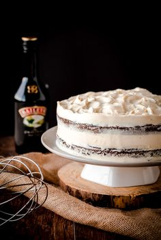 Guinness Stout Cake with Bailey's Cream Cheese Frosting