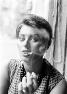 """the-night-picture-collector: """"""""Peter Stackpole, Sophia Loren in a Manhattan Coffee, NYC, 1958 """" """""""