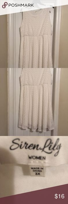 White Crochet Dress White Crochet Dress - NWT Dresses Midi