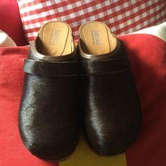 Sanita brown pony hair clogs Sanita chocolate brown pony hair clogs. Brand new, never worn. Sanita Shoes Mules & Clogs