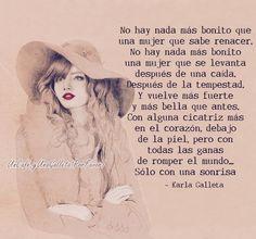 〽️ No hay nada más bonito que una mujer que sabe renacer....