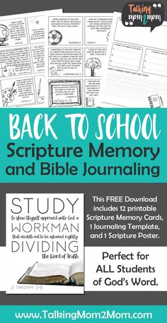 Back to School with a NEW Scripture Memory Pack for Students ~ Talking Middle School, Back To School, High School, Homeschool Curriculum, Homeschooling, Scripture Cards, Bible Journal, How To Memorize Things, Encouragement